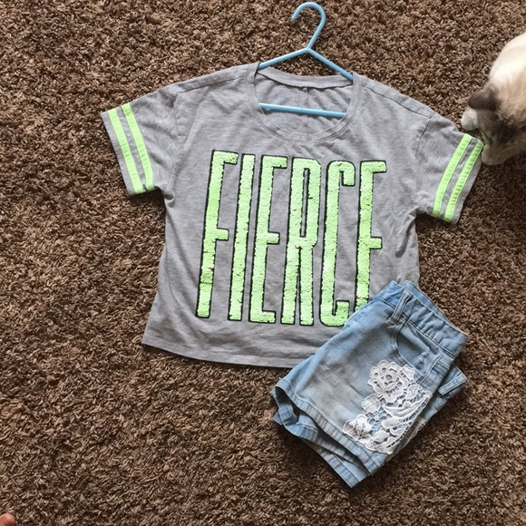 Justice Other - Justice cropped shirt and matching jeans